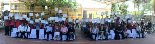 Certificación Curso Montaje y Mantención de PANELES SOLARES, Alumnos del Liceo Polivalente Rigoberto Fontt de la Comuna de Colina